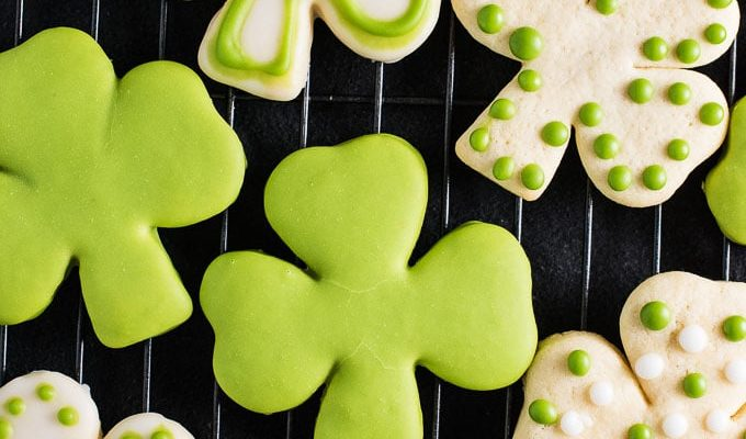 Shamrock Sugar Cookies with All Natural Green Frosting by The Endless Meal | The 15 Best Healthier St. Patrick's Day Recipes