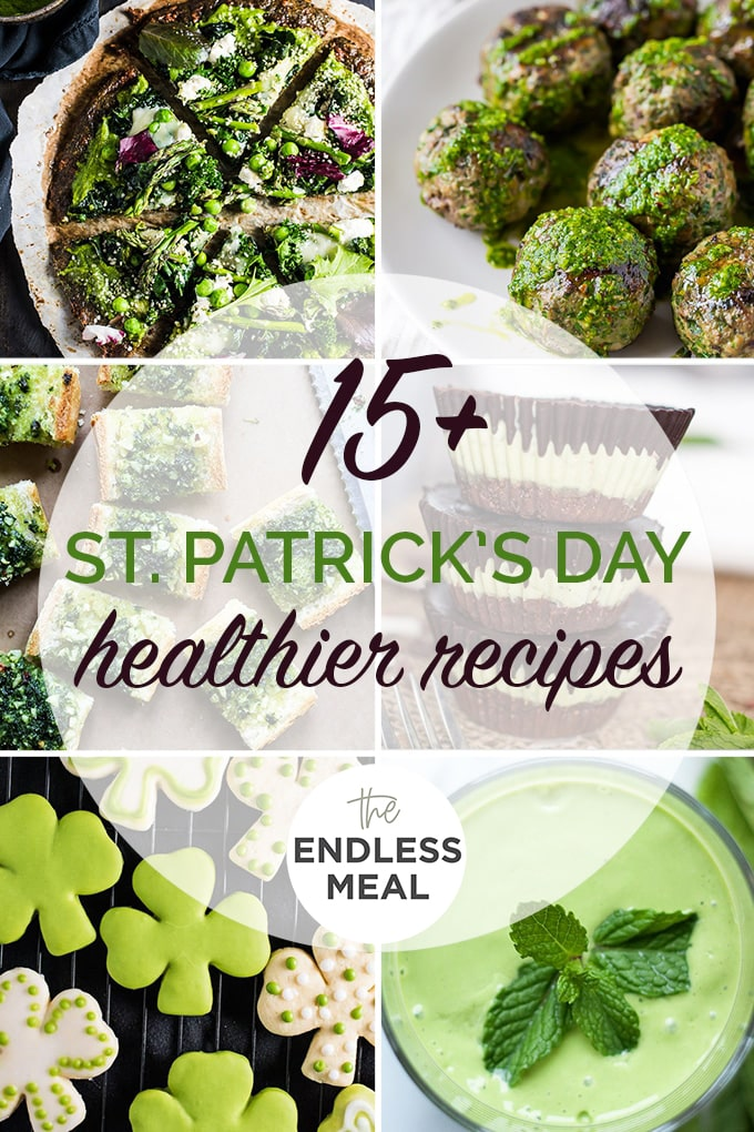 A collage of the best healthy St. Patrick's Day recipes.