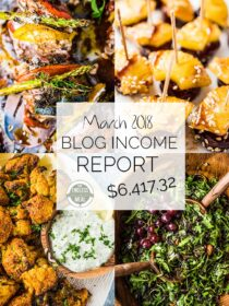 Food Blog Income Report for March 2018. Learn traffic building and blog monetization strategies used by The Endless Meal. | theendlessmeal.com | #incomereport #blogincome