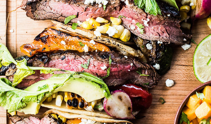 Summer Veggie Grilled Steak Tacos by The Endless Meal | The 15 Best Easy Healthy Taco Recipes