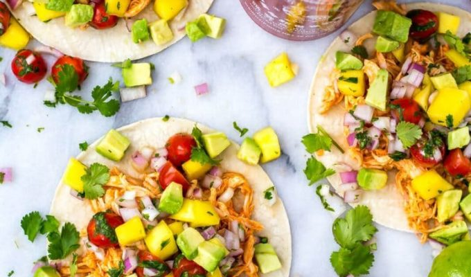 Instant Pot Sriracha Chicken Tacos by The Girl on Bloor | The 15 Best Easy Healthy Taco Recipes