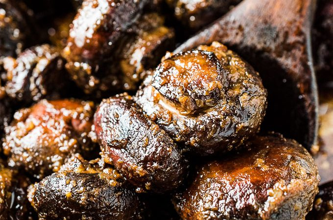 These Sesame Garlic Miso Butter Mushrooms should really be called The Best Mushroom Recipe Ever. They're insanely delicious and super easy to make. Everyone at your table will LOVE them! | gluten-free + vegetarian + vegan adaptable |  theendlessmeal.com | #mushrooms #mushroomrecipes #miso #misobutter #glutenfree #vegetarian #vegan #healthyrecipes #sidedish
