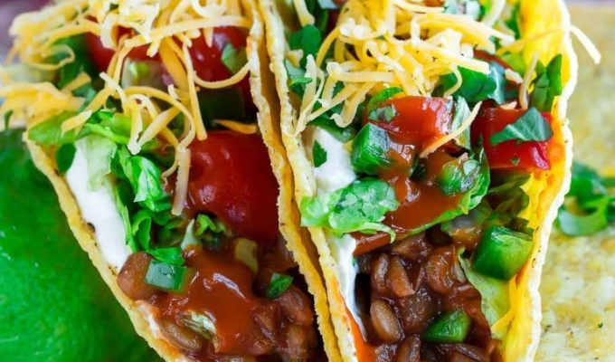 Vegetarian Chipotle Lentil Tacos by Peas and Crayons | The 15 Best Easy Healthy Taco Recipes