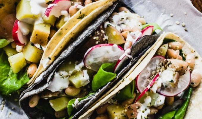 Vegetarian Spring Tacos by Heartbeet Kitchen | The 15 Best Easy Healthy Taco Recipes