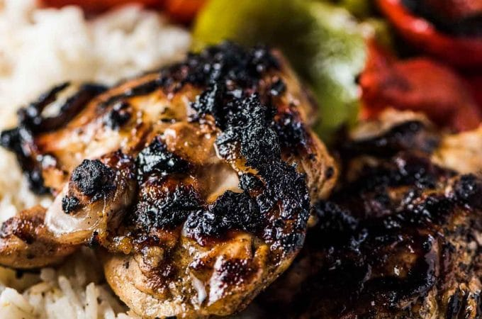 Easy to make and delicious Margarita Chicken is the perfect summer grill recipe. Your favorite cut of chicken is marinated in lime, tequila, and a little agave syrup then popped on the BBQ. You will LOVE it!   gluten-free + dairy-free + refined sugar-free  theendlessmeal.com   #margaritas #chicken #cincodemayo #bbq #chickenrecipes