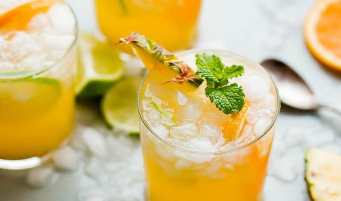 Pineapple Punch with Ginger Beer by A Beautiful Plate | The 15 Best Summer Cocktails