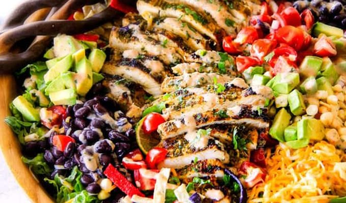 Cilantro Lime Chicken Taco Salad by Carlsbad Cravings | The 15 Best Healthy Summer Salads