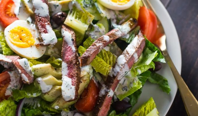 Whole30 Steak Salad by 40 Aprons | The 15 Best Healthy Summer Salads