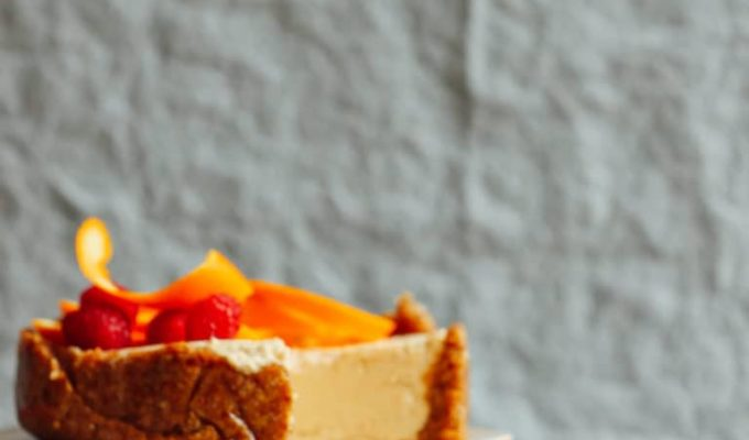 Vegan No Bake Coconut Yogurt Cheesecake by Minimalist Baker | The 15 Best Vegan Summer Desserts