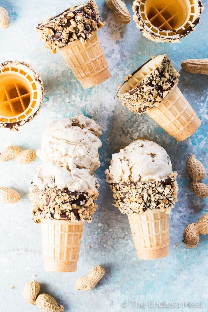 Healthier Peanut Butter Cookie Dough Ice Cream by The Endless Meal | The 15 Best Vegan Summer Desserts