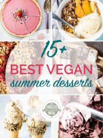 Collage of the best vegan summer desserts