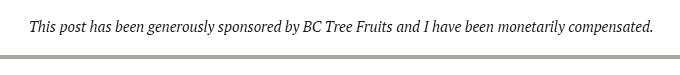 sponsored banner for BC Tree Fruits.