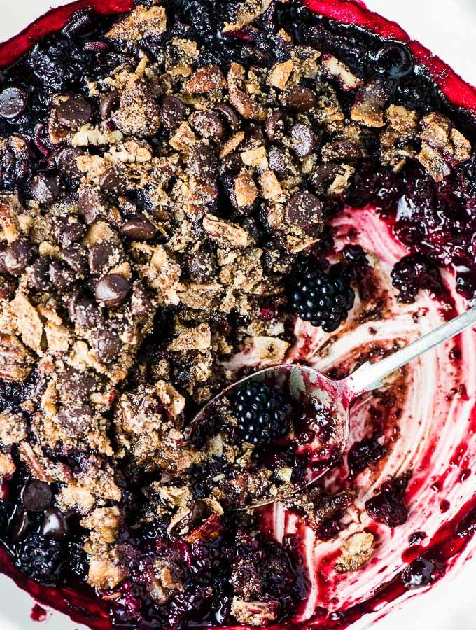 Chocolate Blackberry Crumble