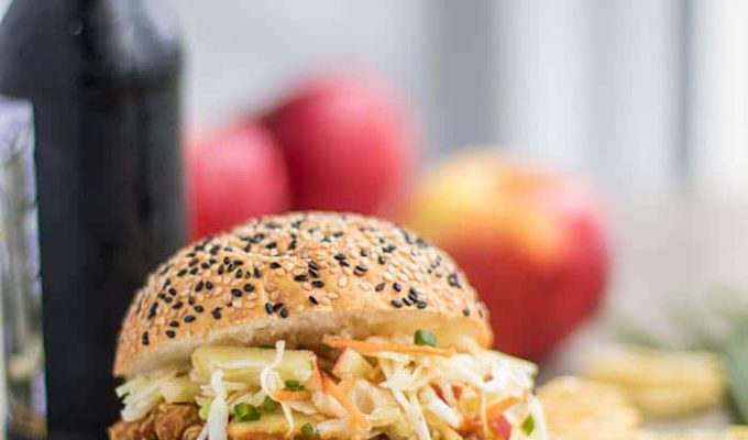 Apple BBQ Pulled Chicken Sandwiches by Sunkissed Kitchen | The 21+ Best Healthy Fall Comfort Food Recipes