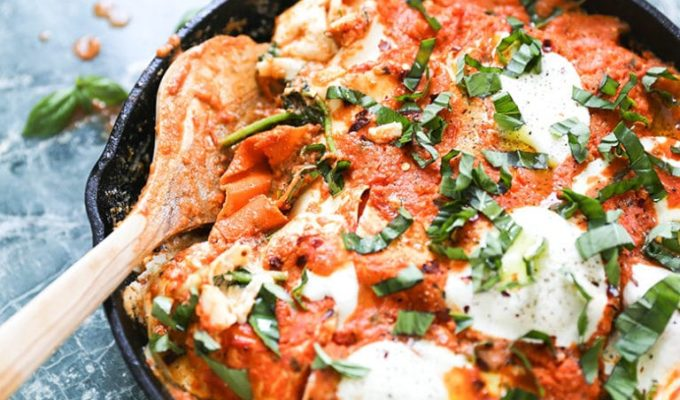 Vegetable Skillet Lasagna by The Floating Kitchen | The 21+ Best Healthy Fall Comfort Food Recipes