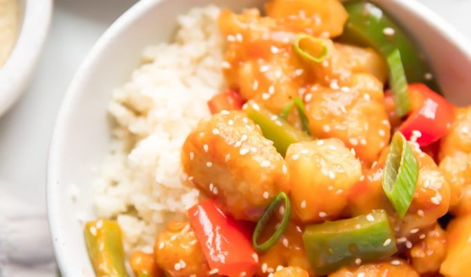 Whole30 Sweet and Sour Chicken by 40 Aprons | 19+ Recipes to Help You Survive Whole30
