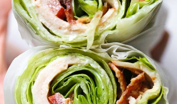 Chicken Club Lettuce Wrap Sandwich by Skinnytaste | 19+ Recipes to Help You Survive Whole30