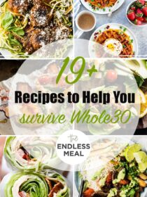 a collage of 6 whole30 recipes with the post title on the picture.