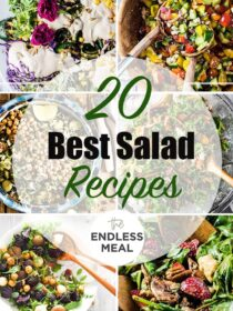 a collage of 6 of the best salad recipes.