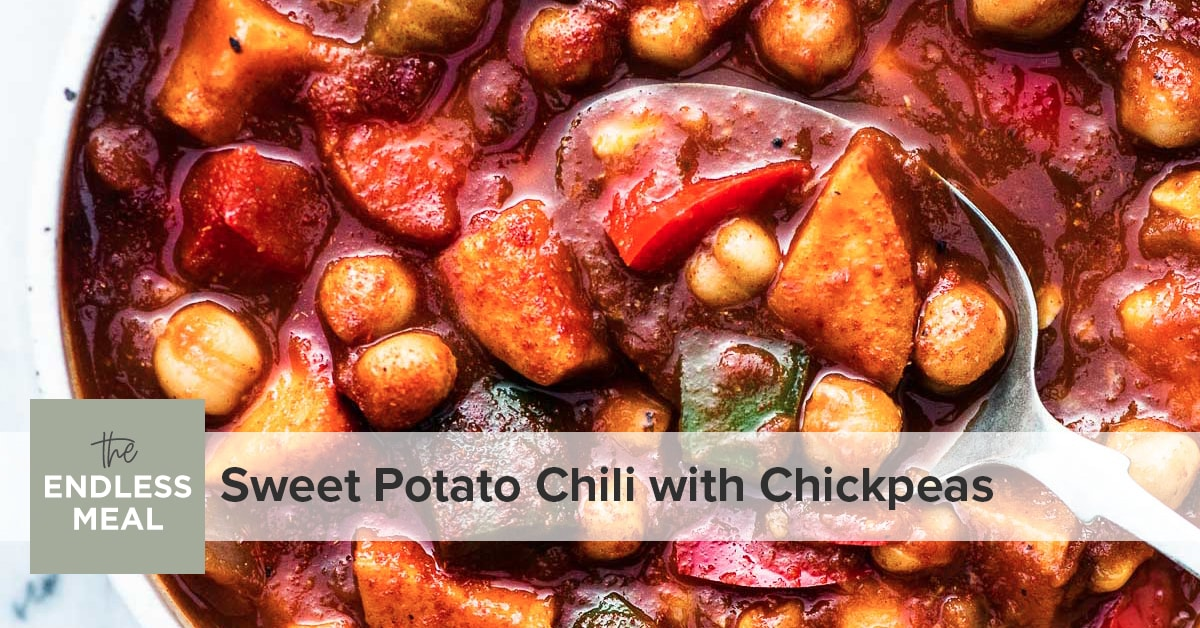 Sweet Potato Chili With Chickpeas Easy Recipe The Endless Meal