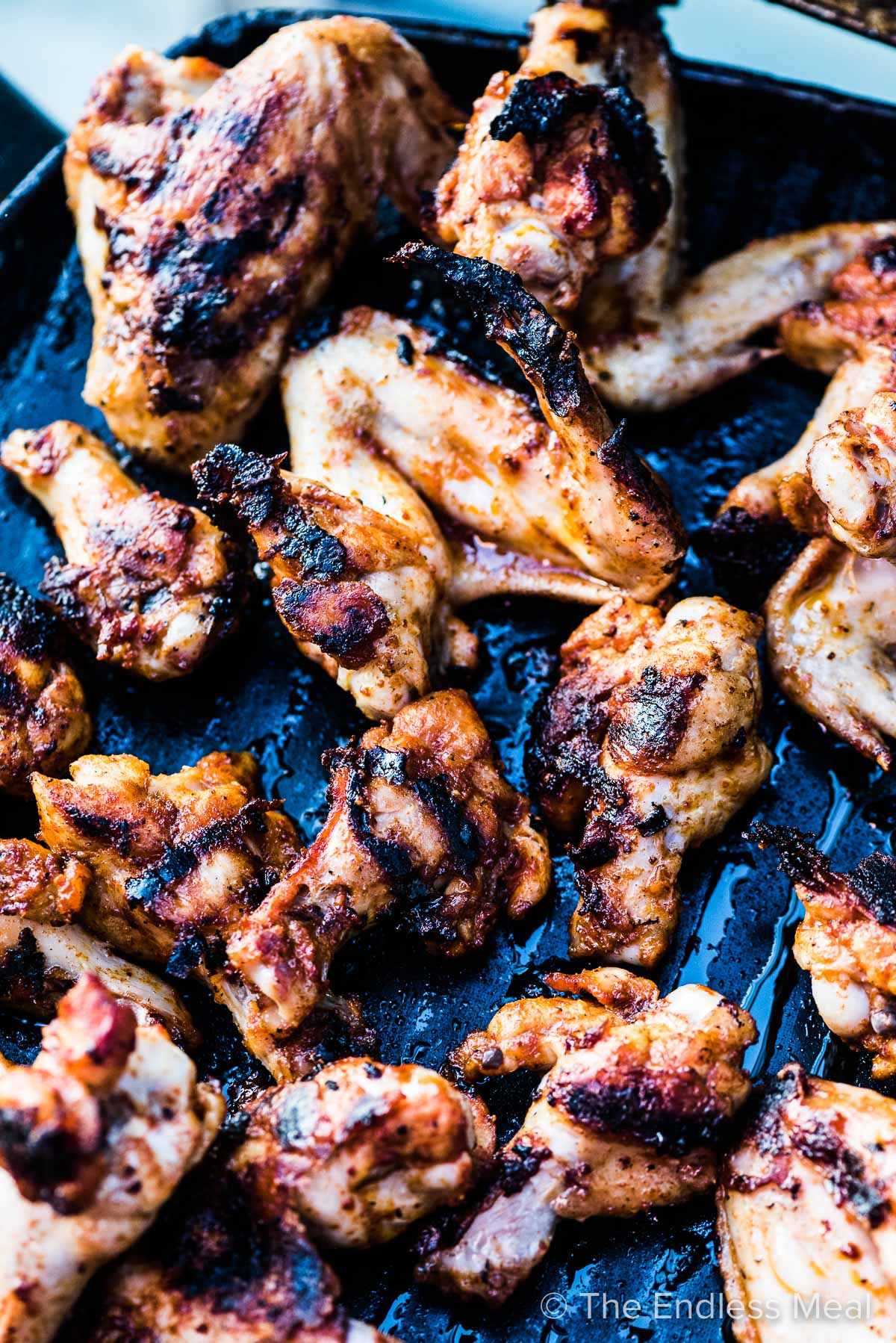 grilled chicken wings on the bbq