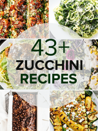 A collage of the Best Zucchini Recipes with the post title on the picture.