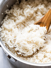 Perfect basmati rice in a pot.
